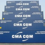 "CMA CGM Marco Polo containers ""Light Steel"""
