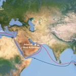 CMA CGM Marco Polo itinerary map